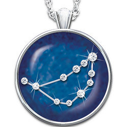 Zodiac Star Crystal Pendant Necklace
