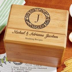 Personalized Wedding Recipe Box -..