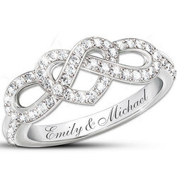 Personalized Lovers Knot Ring..
