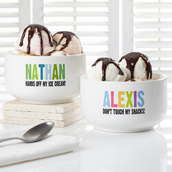 Personalized Snack Bowl For Kids -..