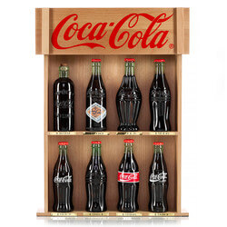 COCA-COLA Bottle Replicas With..