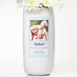 Personalized Photo Vase - Chevron..