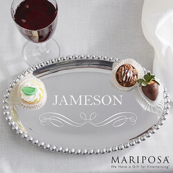 Personalized Oval Serving Tray -..