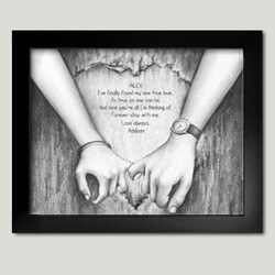 Personalized Framed Art - Holding..