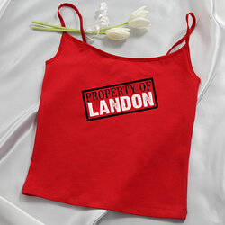 Personalized Ladies Red Camisole -..