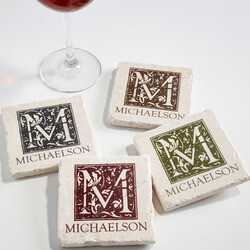 Personalized Tumbled Stone Drink..