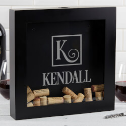 Personalized Wine Cork Shadow Box..