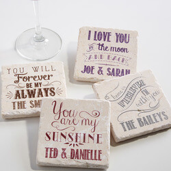 Personalized Stone Coaster Set -..