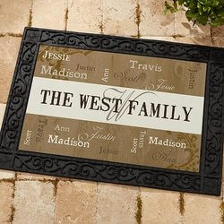 Personalized Family Name Doormat -..