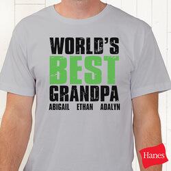 Personalized Grandpa T-Shirts -..