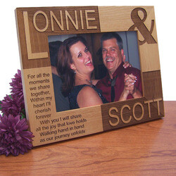You And I Wood Photo Frame