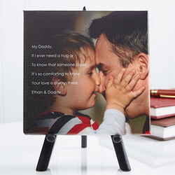 Personalized Tabletop Canvas Print..