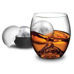 On The ROCK Glass With Ice Ball..