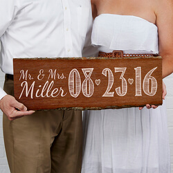 Personalized Wedding Date Sign -..