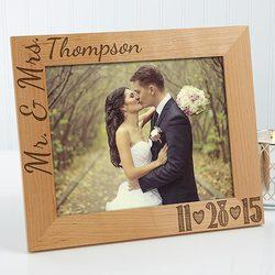 Personalized Wedding Photo Wood..