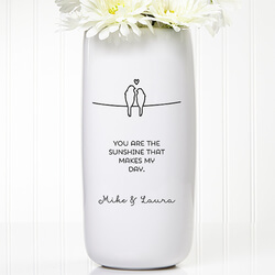 Personalized Romantic Vase -..