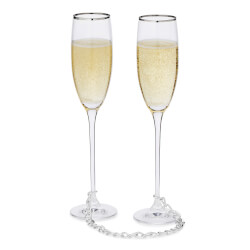 Linked For Life Champagne Flutes -..