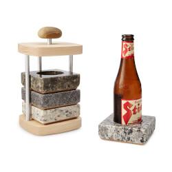 Beer Bottle Chilling Coaster Set