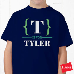 Personalized Name Bracket Apparel..