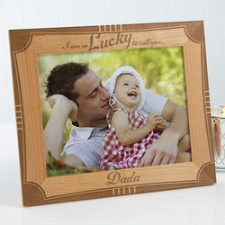 Personalized Father Wood Frame -..