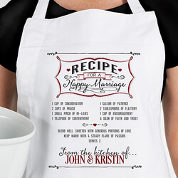 Personalized Wedding Apron -..