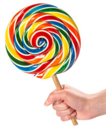 Old Fashioned Giant Lollipop By..