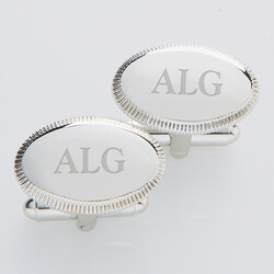 Personalized Silver Cufflinks -..