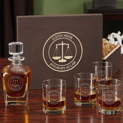 Scales Of Justice Custom Whiskey..