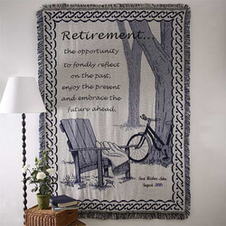 Personalized Retirement Blanket..