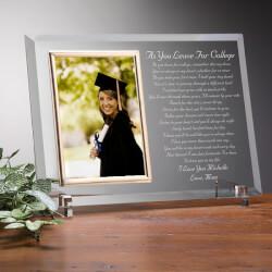 Custom Glass Graduation Picture..