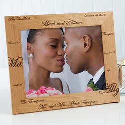 Personalized Wedding Photo Frames..
