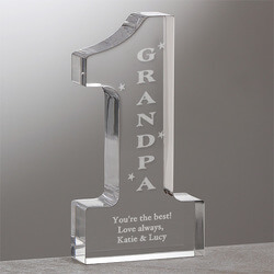 Number One Grandpa Engraved..