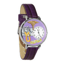 Nurse 2 Purple Watch In Silver..