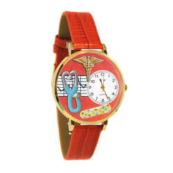 Nurse 2 Red Watch In Gold (Large)