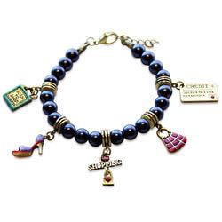 Shopper Mom Charm Bracelet In Gold
