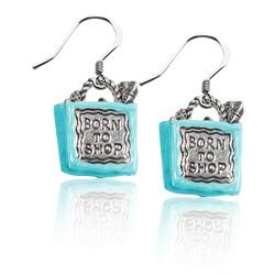 Born To Shop Charm Earrings In..