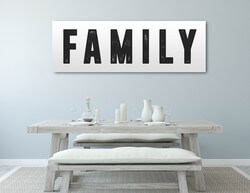 Family Home Decor Canvas