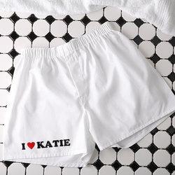 Custom Boxer Shorts - White