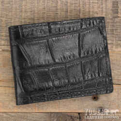 Amish Crafted Black Alligator Skin..