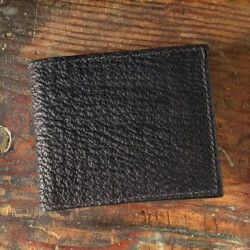 Amish Crafted Black Shark Skin..