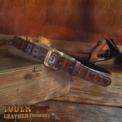 Amish Crafted Brown Alligator Skin..