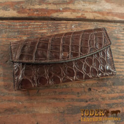 Amish Crafted Black Alligator Skin..