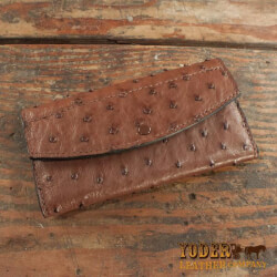 Amish Crafted Brown Ostrich Skin..
