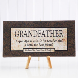 Personalized Grandfather Gift..