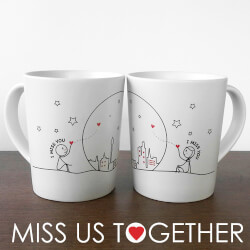 Miss Us Together™ Couple Mugs