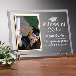 Engraved Glass Photo Frame -..