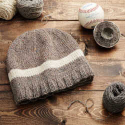 MLB Game-Used Baseball Beanie:..