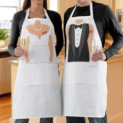 Personalized Wedding Apron Set -..