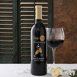 Personalized Anniversary Wine..