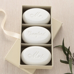 Mr & Mrs Personalized Wedding Soap..